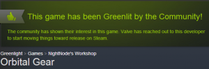 Greenlit 300x100 Orbital Gear has been Greenlit!